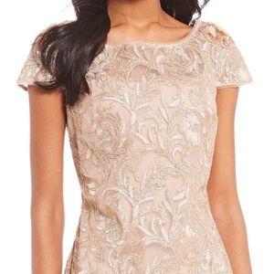 Calvin Klein Lace Sheath Dress w/Embellishment